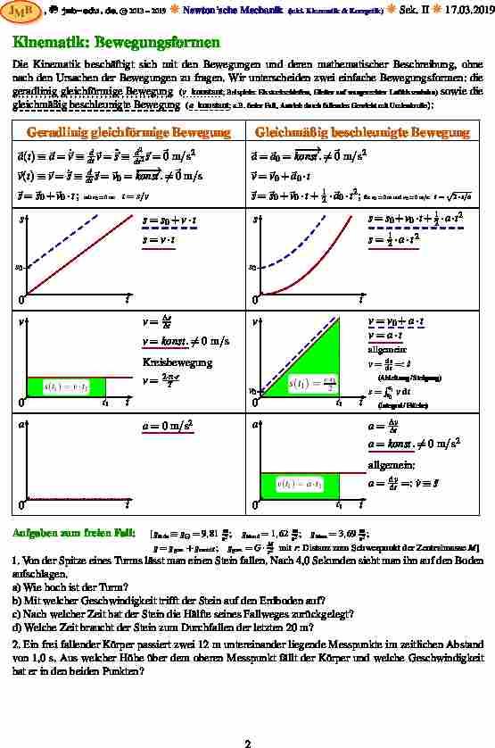 Großzügig Physik Kinematik Arbeitsblatt Fotos - Mathe Arbeitsblatt ...